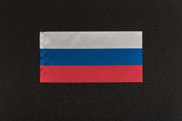 Bandeira da rússia em preto. símbolo nacional da federação russa.