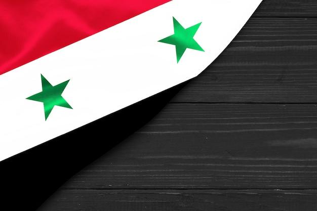 Bandeira da síria cópia espaço