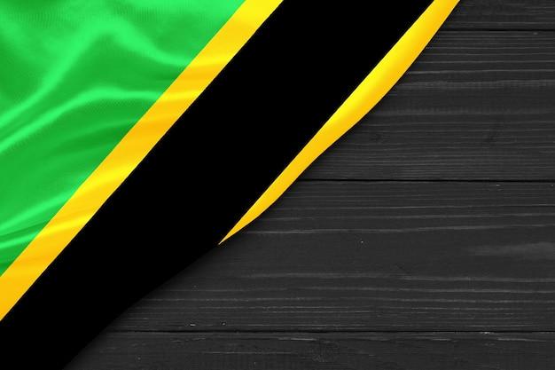 Bandeira da tanzânia cópia espaço