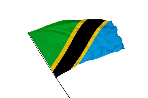 Bandeira da tanzânia em um fundo branco