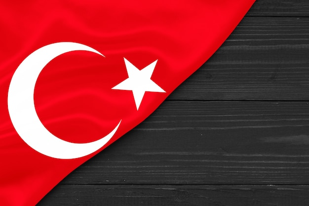 Bandeira da turquia cópia espaço