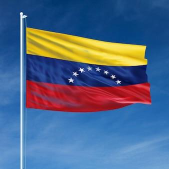 Bandeira da venezuela voando