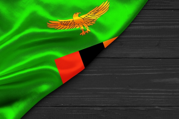 Bandeira da zâmbia copiar espaço