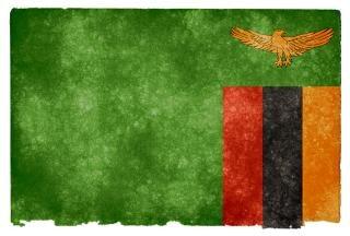 Bandeira da zâmbia grunge simbólico