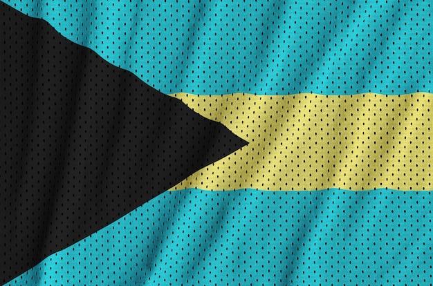 Bandeira das bahamas impressa em um tecido de malha de nylon sportswear de poliéster