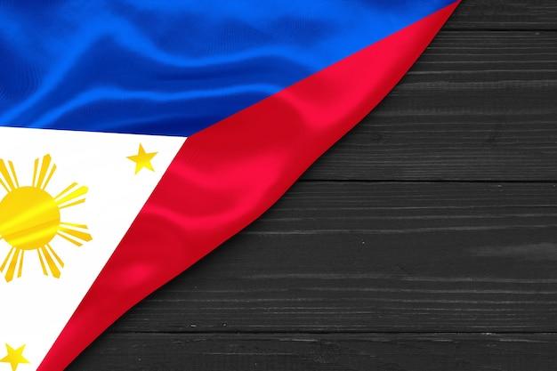 Bandeira das filipinas copie o espaço