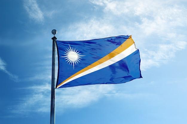 Bandeira das ilhas marshall no mastro