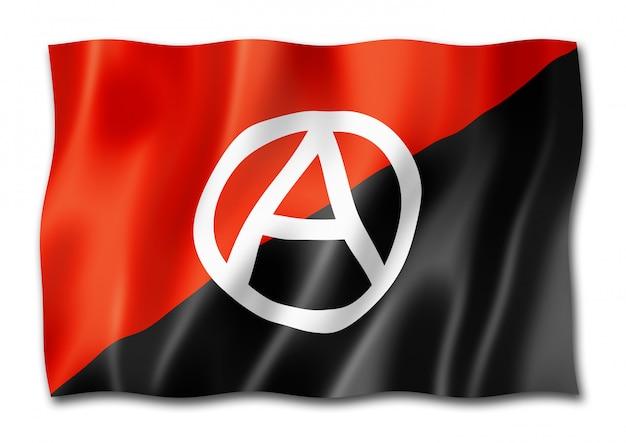 Bandeira de anarquia isolada no branco