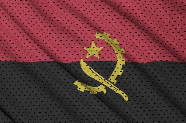 Bandeira de angola impressa em um tecido de malha de poliéster sportswear de nylon