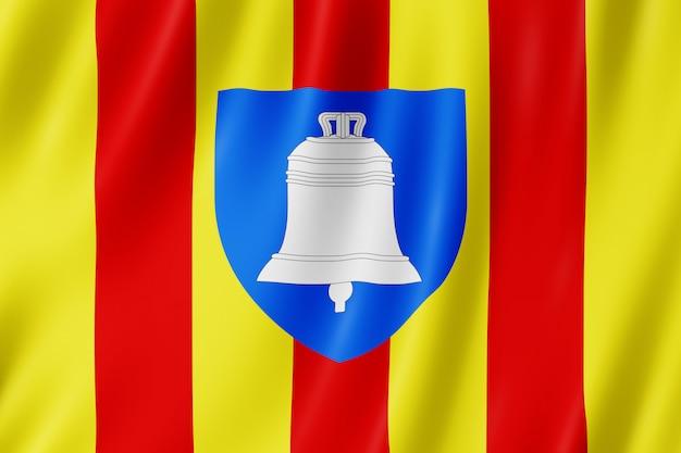 Bandeira, de, ariège, frança