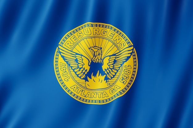 Bandeira, de, atlanta, cidade, geórgia, (us)