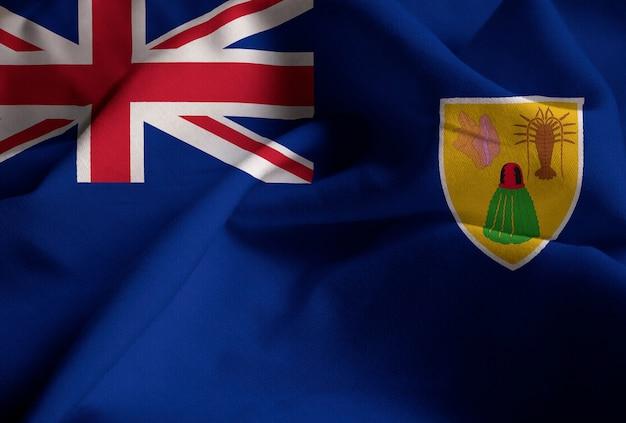 Bandeira de babados das ilhas turks e caicos