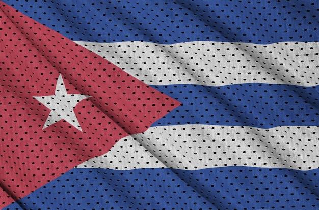 Bandeira de cuba impressa em um tecido de malha de nylon para sportswear de poliéster