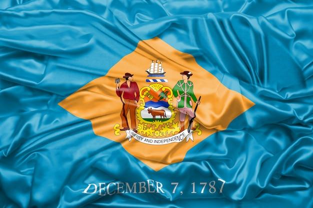 Bandeira, de, delaware, estado, de, estados unidos américa