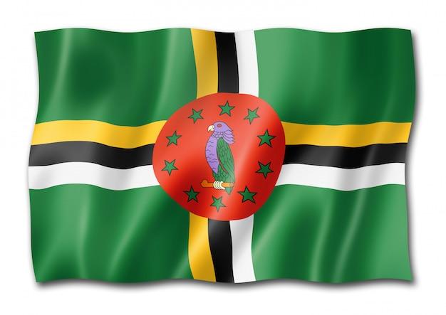 Bandeira de dominica isolada