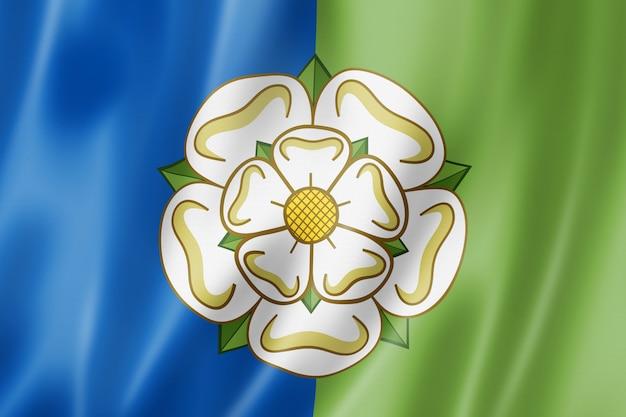 Bandeira de east riding of yorkshire county, reino unido