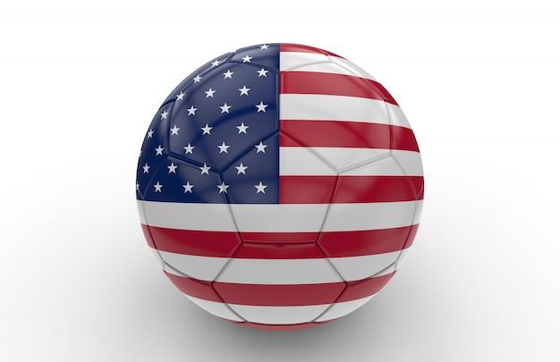 Bandeira de eua de bola de futebol