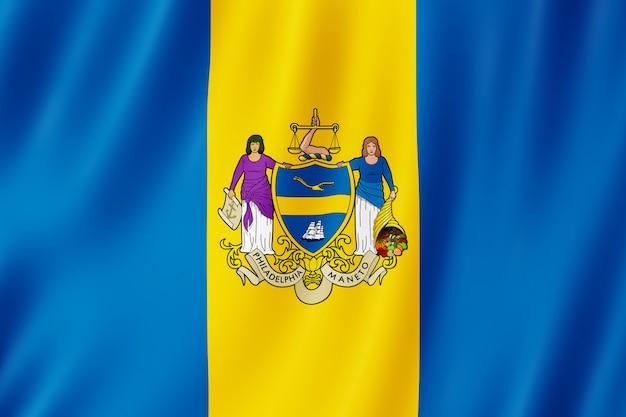 Bandeira, de, filadélfia, cidade, pensilvânia, (us)