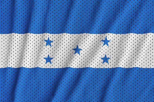 Bandeira de honduras impressa em um tecido de malha de nylon sportswear de poliéster