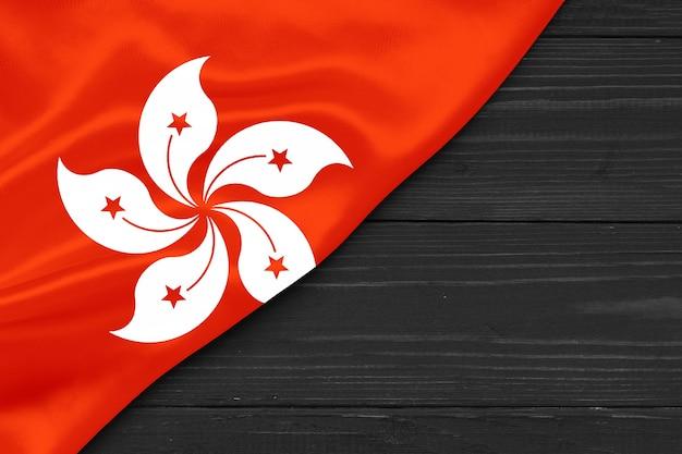 Bandeira de hong kong cópia espaço