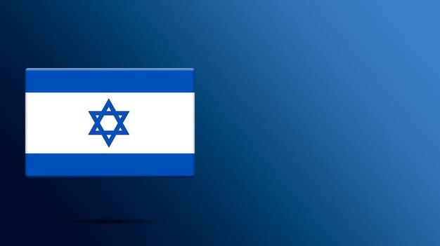 Bandeira de israel em plataforma realista