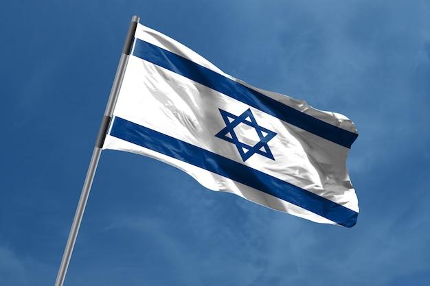 Bandeira de israel que acena