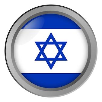 Bandeira de israel redonda como um botão