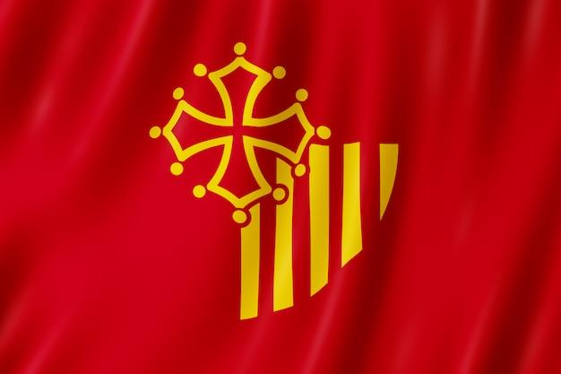 Bandeira, de, languedoc-roussillon, frança