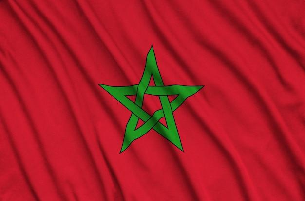 Bandeira de marrocos com muitas dobras.