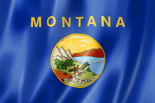 Bandeira de montana, eua