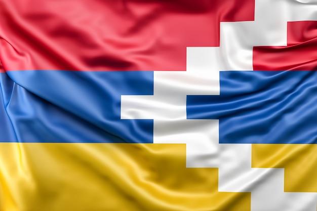 Bandeira de nagorno-karabakh (república de nagorno-karabakh)