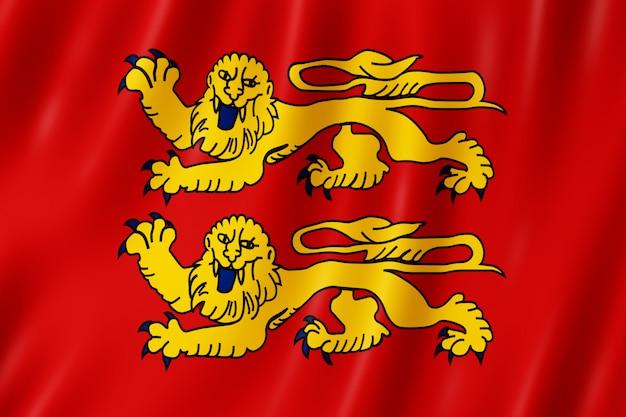 Bandeira, de, normandie, frança