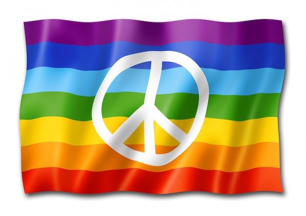 Bandeira de paz do arco-íris isolada