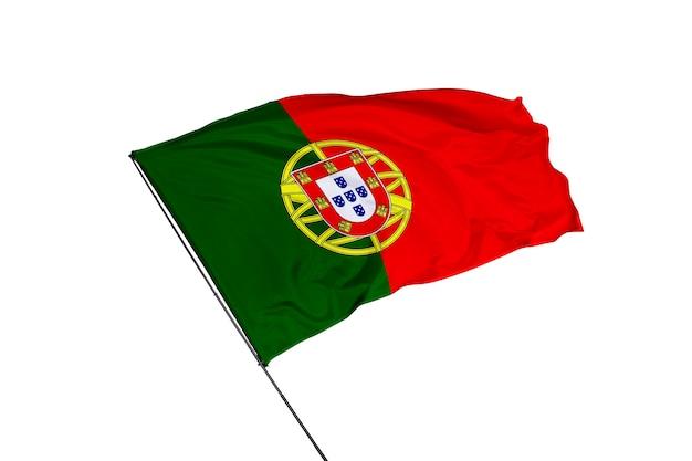 Bandeira de portugal em fundo branco