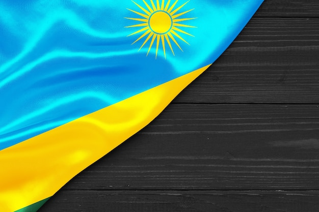 Bandeira de ruanda cópia espaço