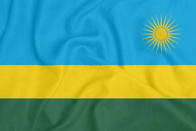 Bandeira de ruanda em tecido texturizado.