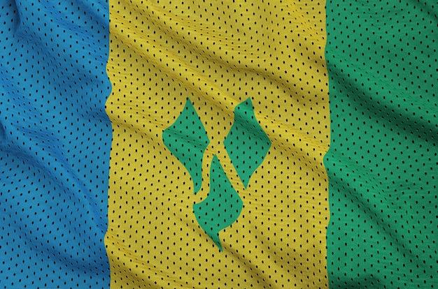 Bandeira de são vicente e granadinas impressa em um poliéster nyl
