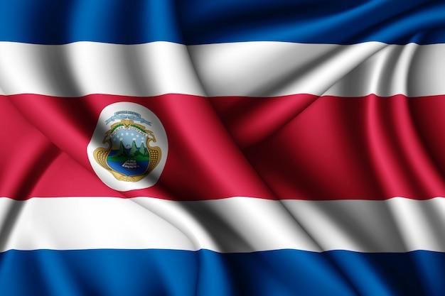Bandeira de seda da costa rica