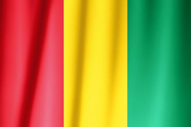 Bandeira de seda da guiné. bandeira da guiné de tecido de seda