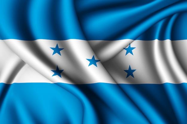 Bandeira de seda de honduras