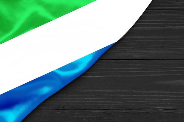 Bandeira de serra leoa cópia espaço