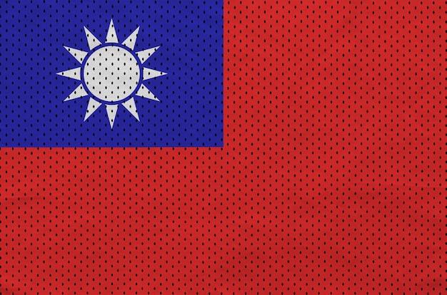 Bandeira de taiwan impressa em um tecido de malha de nylon para sportswear de poliéster