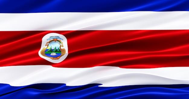 Bandeira de tecido da costa rica, bandeira da seda da costa rica, dia da independência,
