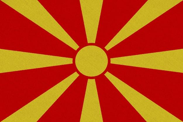 Bandeira de tecido da macedônia