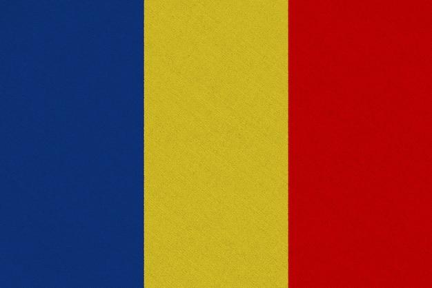 Bandeira de tecido da romênia