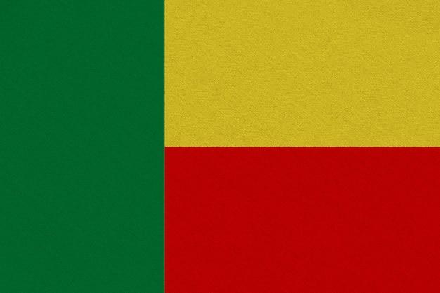 Bandeira de tecido de benin