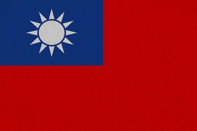Bandeira de tecido de taiwan