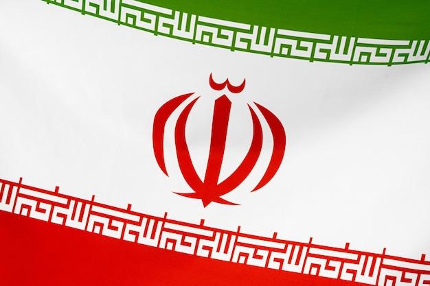 Bandeira de tecido do irã close-up