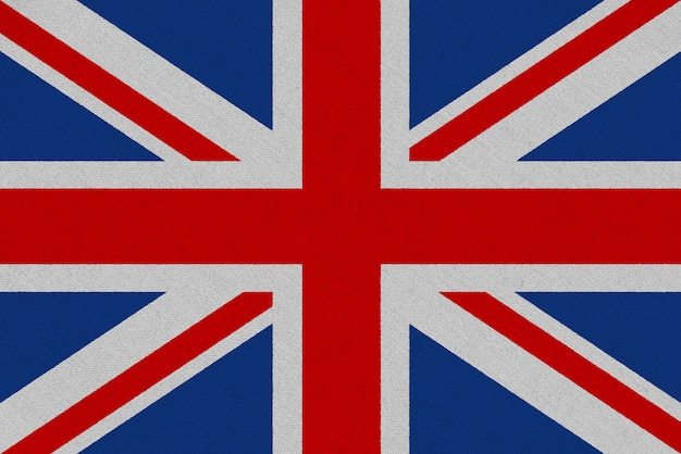 Bandeira de tecido do reino unido