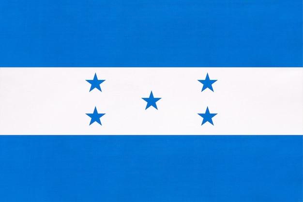Bandeira de tecido nacional de honduras, símbolo do país da américa central mundo internacional.